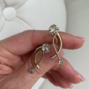 Vintage 1950's clip on earrings